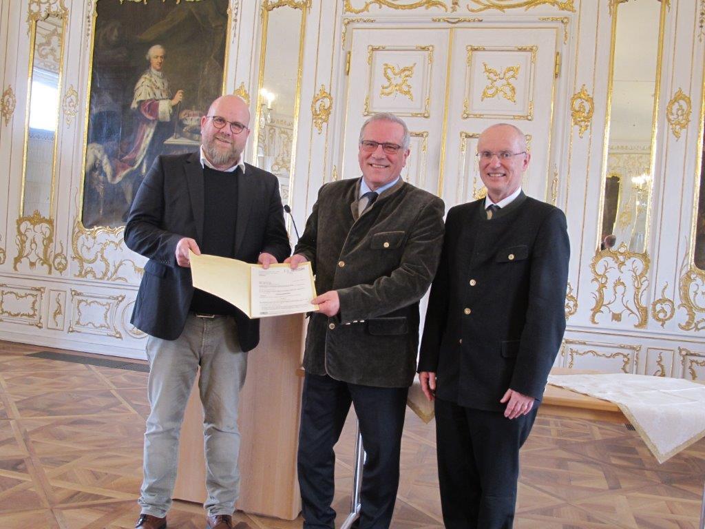 1.Bgm Preußner, Staatssekretär Hintersberger, Regierungspräsident